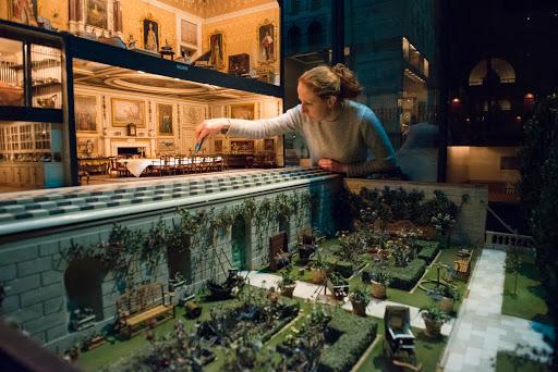 Maison de poupée fabriquée en 1924 pour la Reine Mary, exposée au Chateau de Windsor.