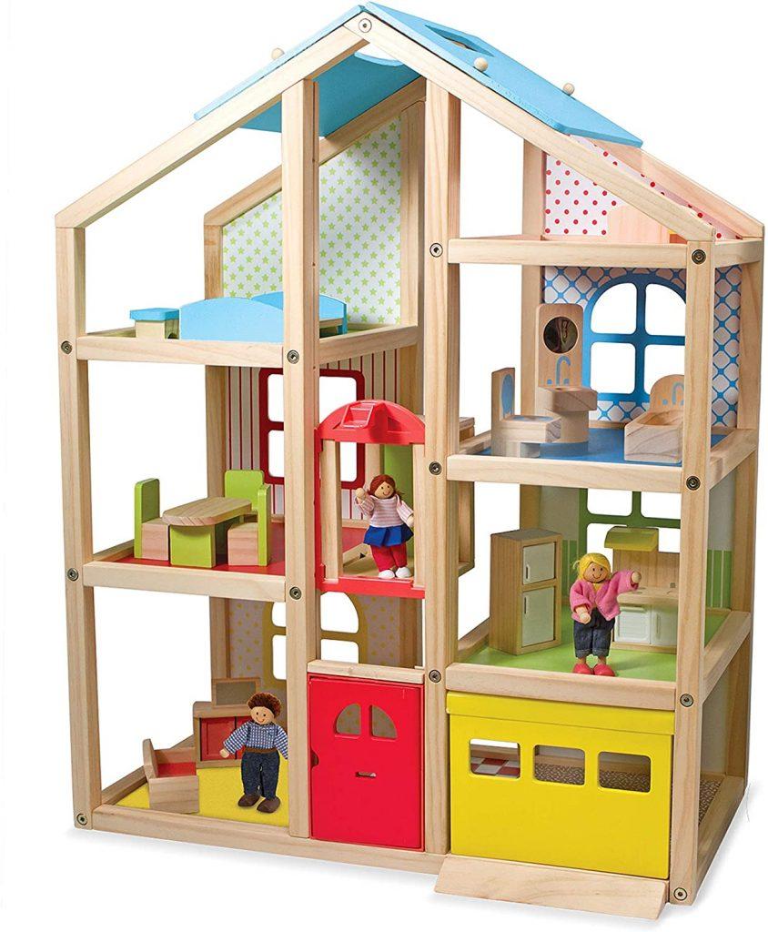Détails de la grande maison de poupée en bois - modèle 12462 - marque Melissa & Doug