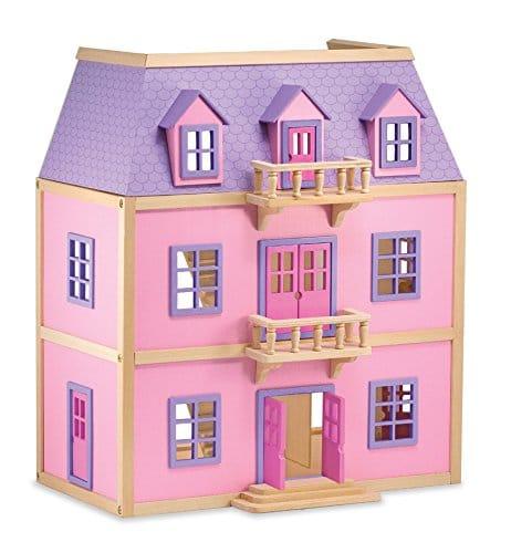 Présentation de la maison de poupée en bois de la marque Melissa & Doug