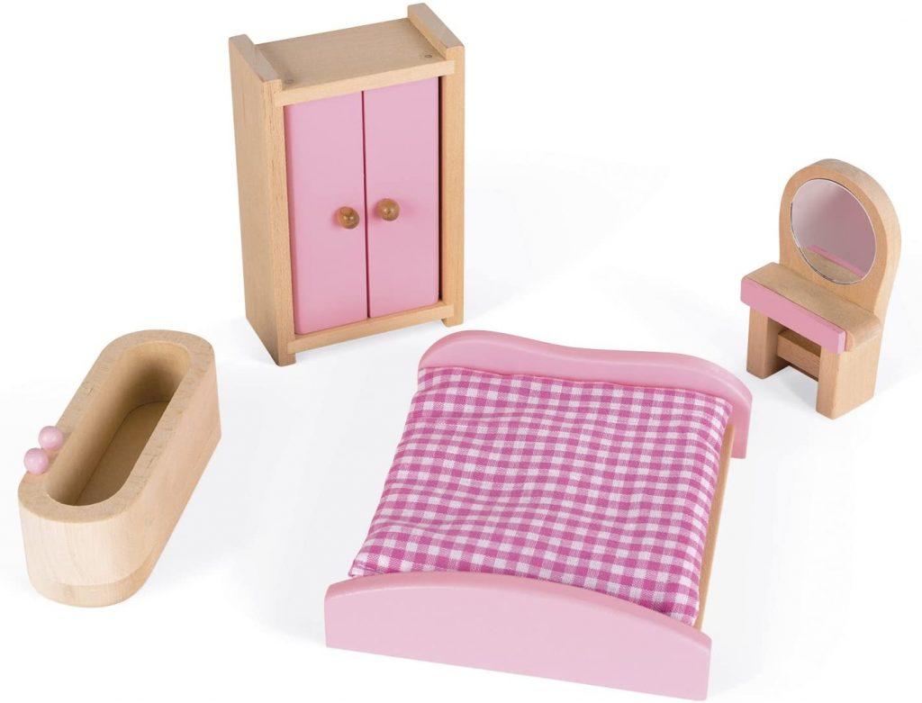 Accessoires de la maison de poupée valise Mademoiselle de la marque Janod.