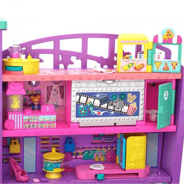 Vision d'ensemble des étages supérieurs du centre commercial Polly Pocket.