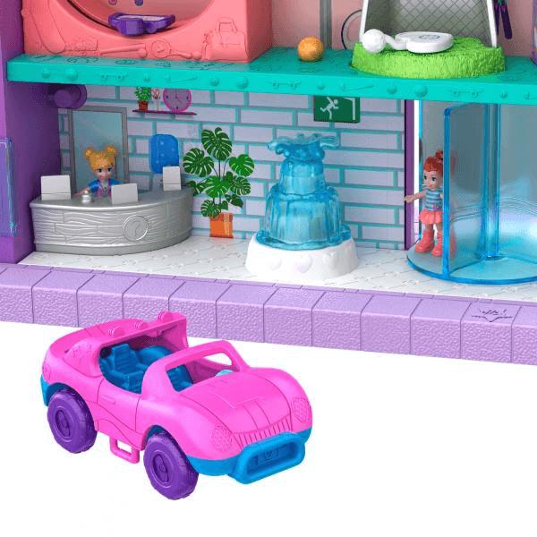 La voiture de Polly et l'accueil du centre commercial Polly Pocket.