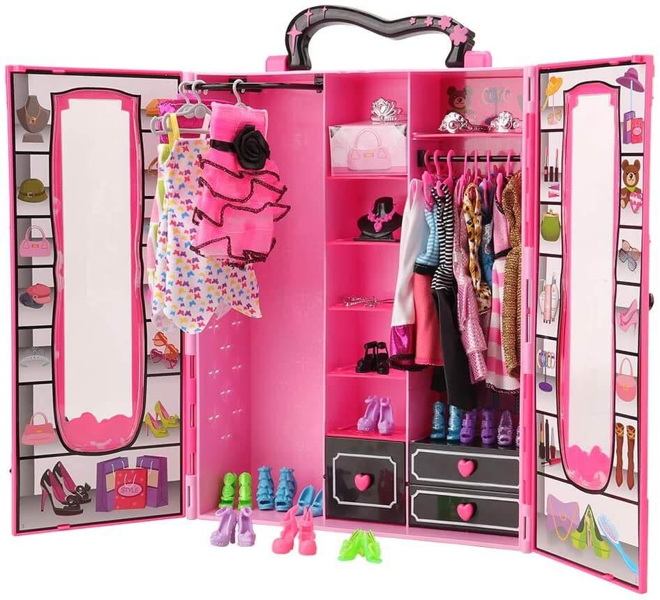 Dressing valise pour poupées Barbie
