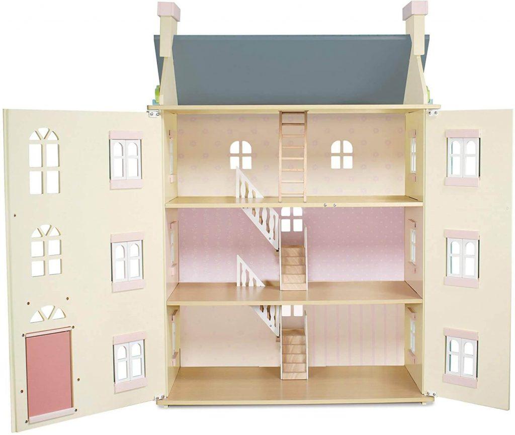 La maison de poupée en bois Cherry Tree Hall de Le Toy Van vue de l'intérieur