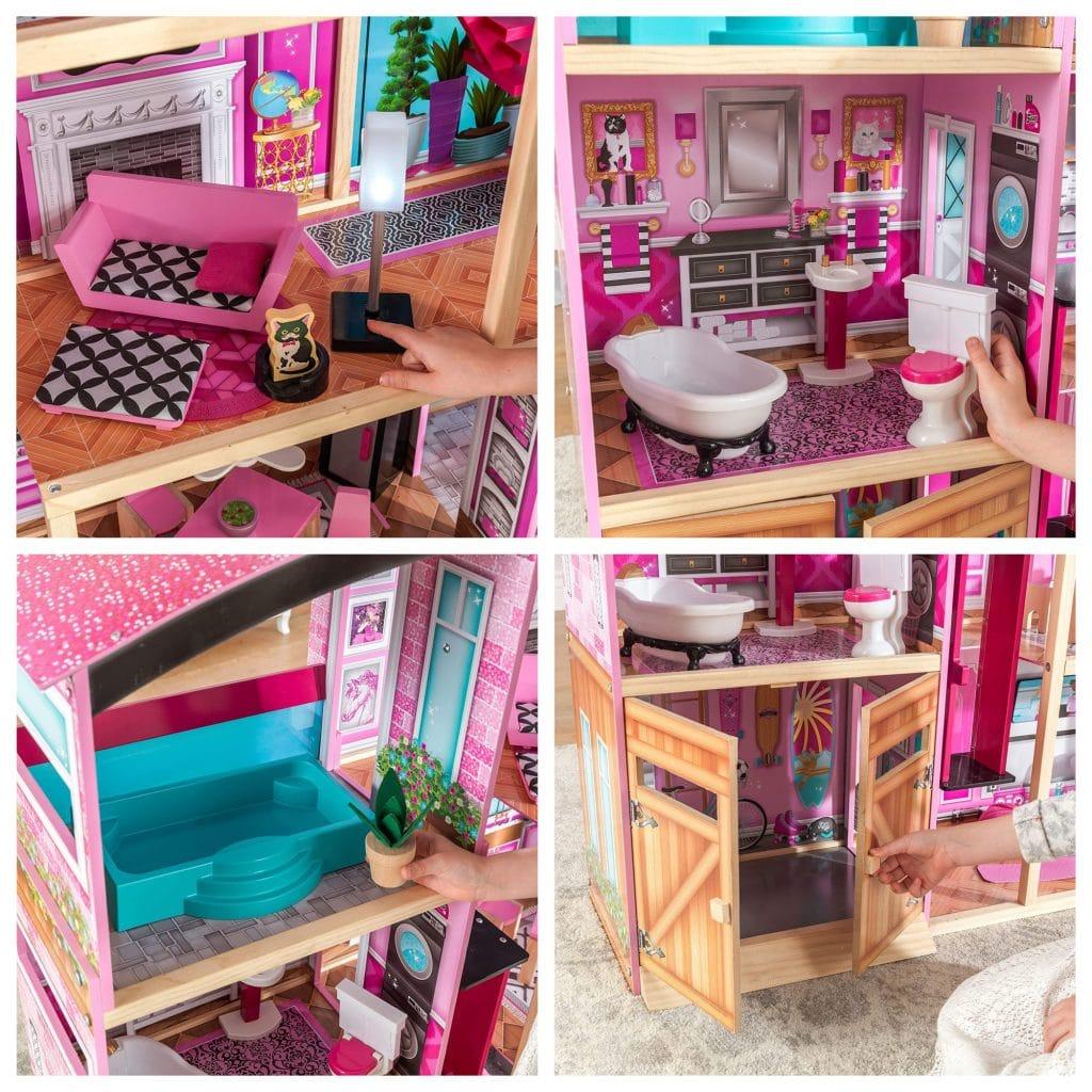 Présentation de la maison de poupée Kidkraft SHIMMER